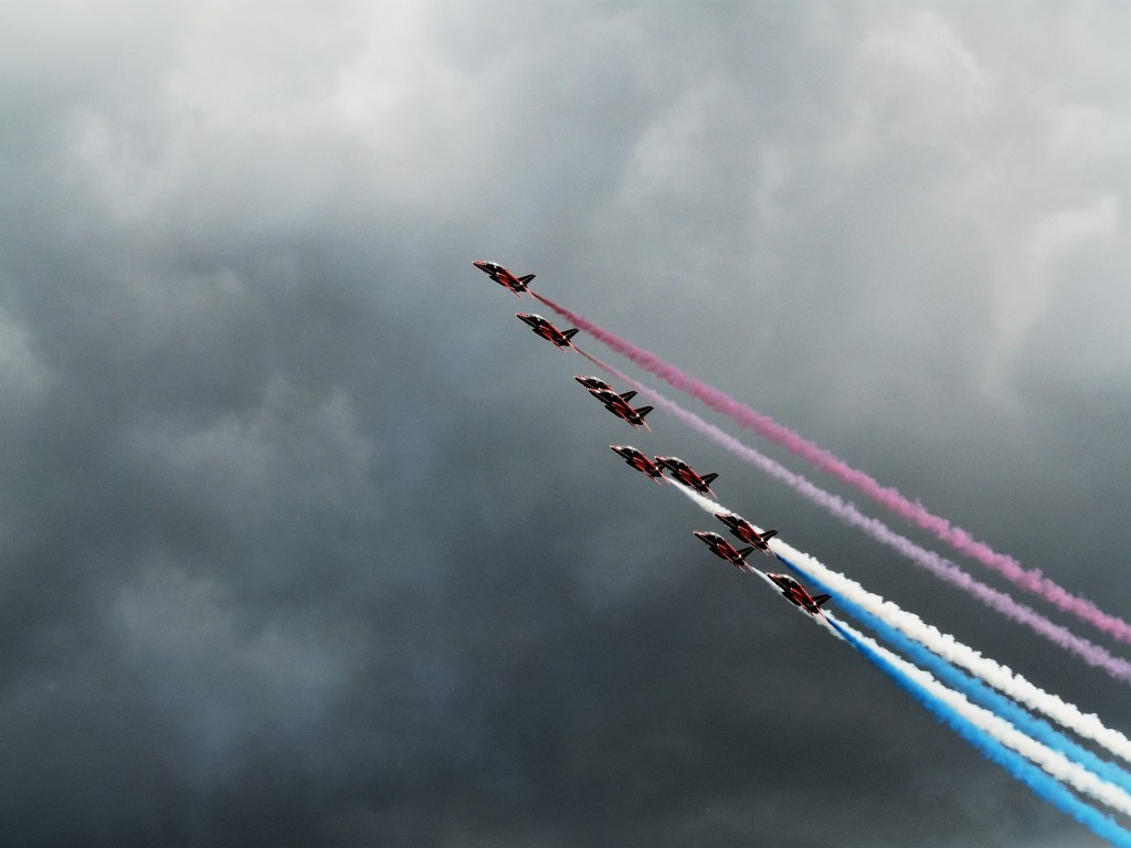 Red Arrows at Farnborough International Airshow 2008