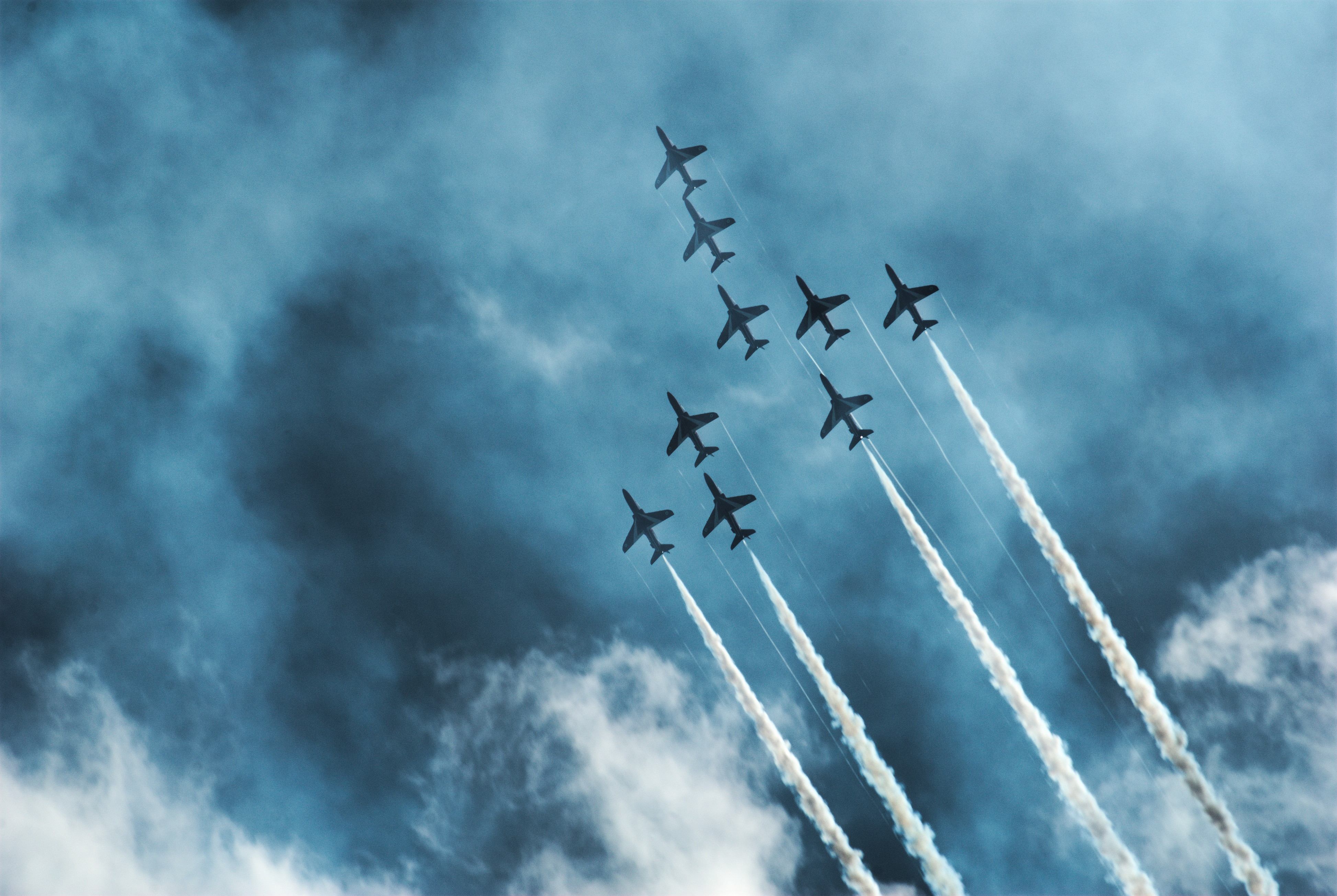 Red Arrows at the Farnborough International Airshow 2014