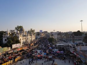 View from Charminar, in Hyderabad