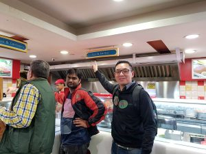 A stop at Haldiram's for some savouries during a night tour of New Delhi